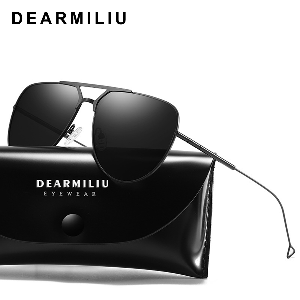 Women's Sunglasses Dearmiliu Design Unisex Retro Mens Polarized Sunglasses Driving Alloy Frame Oval Mirror Sun Glasses Uv400 Gafas De Sol For Men Shrink-Proof