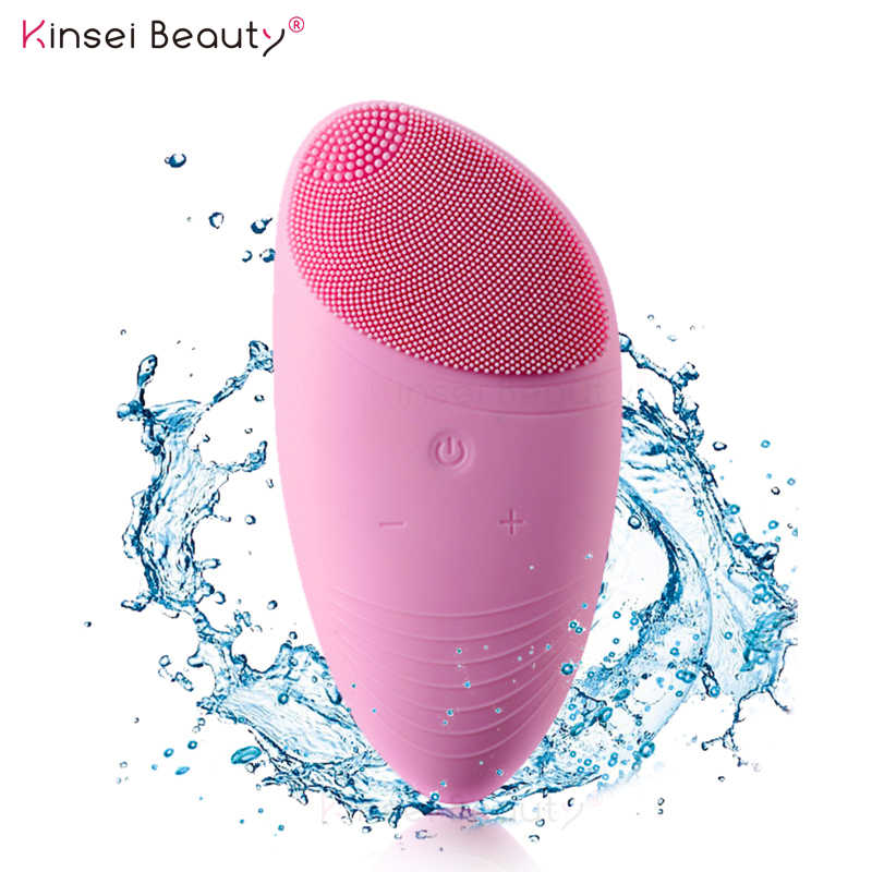 Electric Silicone Face Cleansing Brush Sonic Massage USB Rechargeable Ultrasonic Face Cleaner Beauty Tool Facial cleansing brush