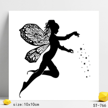 Fairy Transparent Silicone Stamps/Seal for DIY Scrapbooking/Photo Album Decorative Card Making Clear Stamps Supplies
