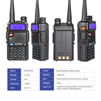 100% оригинал Baofeng УФ-5R двухдиапазонный профессиональный рация 5 вт УКВ и УВЧ двухстороннее радио uv5r ручной охота кв трансивер