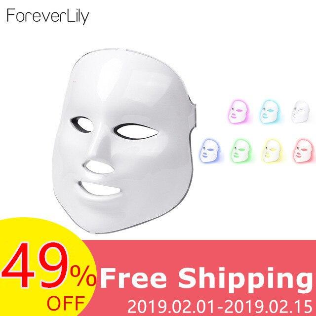 Foreverlily terapia Led máscara luz máscara terapia de fotones Led máscara Facial coreano de cuidado de la piel máscara Led terapia