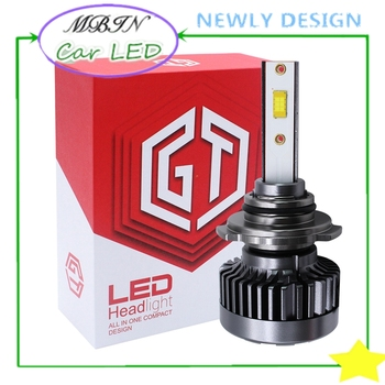 7 leaves bearing fan cooling fast MBIN MT3A turbo kit 30w 4000LM 6000k 9005/HB3 bright Led Headlight car head driving lamp