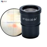 בקנה מידה רחבה WF10X מיקרוסקופ סטריאוסקופית עינית 10 מיקרון כיול בקנה מידה reticle ממשקי צלחת קוטר חיצוני של 30 מ