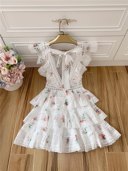 2020 Elegant Printed Mini Dress with Ruffles 5