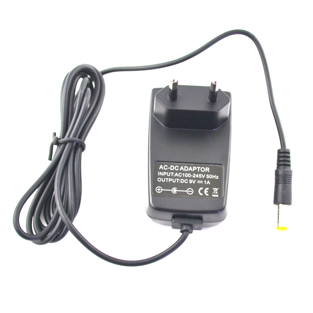 100PCS High quaity EU Plug AC DC adapter adaptor home wall power supply 100-245V 9V 1A for not SNES but for NES charger cable