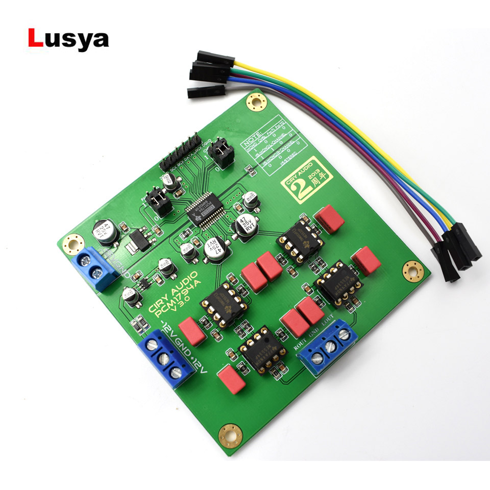 Industrial Computer & Accessories Wqscosea Q8s-208 I2s Pcm5102 Dac Decoder Player Audio Board Module Sound Card Line Out Stereo Jack Than Es9023 Pcm1794
