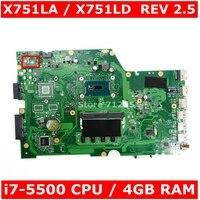X751LAB MAIN_BD._ 4G/I7-5500U 메인 보드 REV 2.5 ASUS X751L X751LAB R752L R752LD R752LN X751LD X751LJ DDR3 노트북 마더 보드