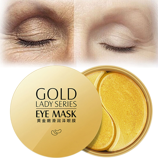 60pcs Gold Eye Mask Anti Wrinkle Crystal Collagen Eye Patches for Eye Care Dark Circles Remove Eye Mask Gel Anti-Aging Skin Care 2