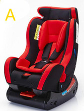 Red Two-Way Installation Safety Seat Chair For 0-6 Years Old Baby Use