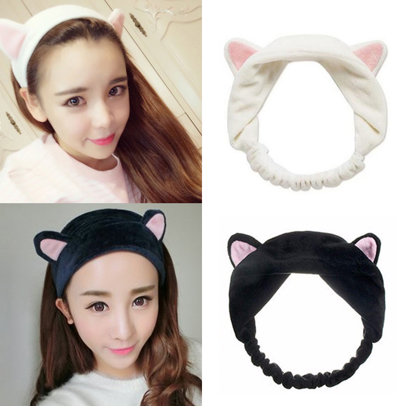 Styling Tools 1pc Fashion Cute Lady Girl Elastic Grail Cat Ears Hair Braiders For Washing Face Headdress Women Hair Accessories Party Beauty & Health