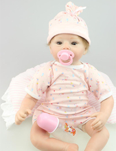 22 inch Soft Reborn Dolls Silicone Vinyl Newborn Nursery Sweet Baby Toy Doll Birthday Gift