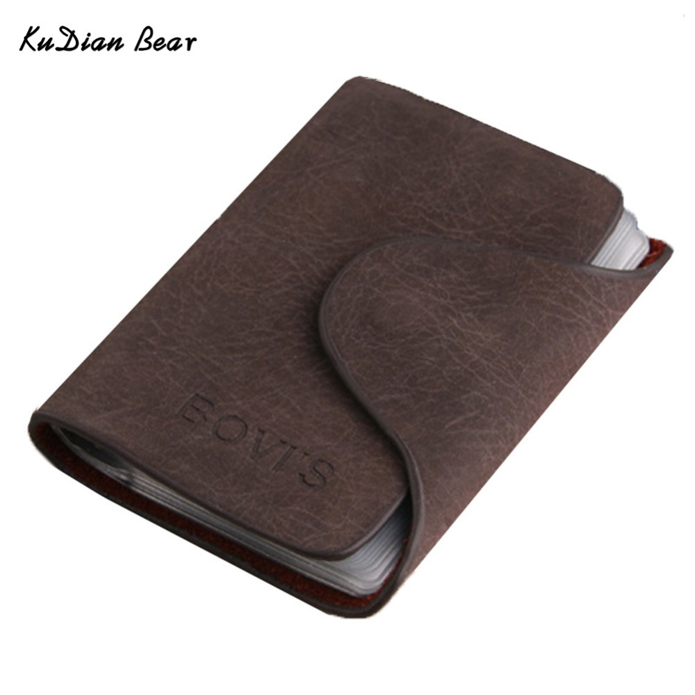 BOVIS Credit Card Holder 20 Bits Business Card Holder Rfid