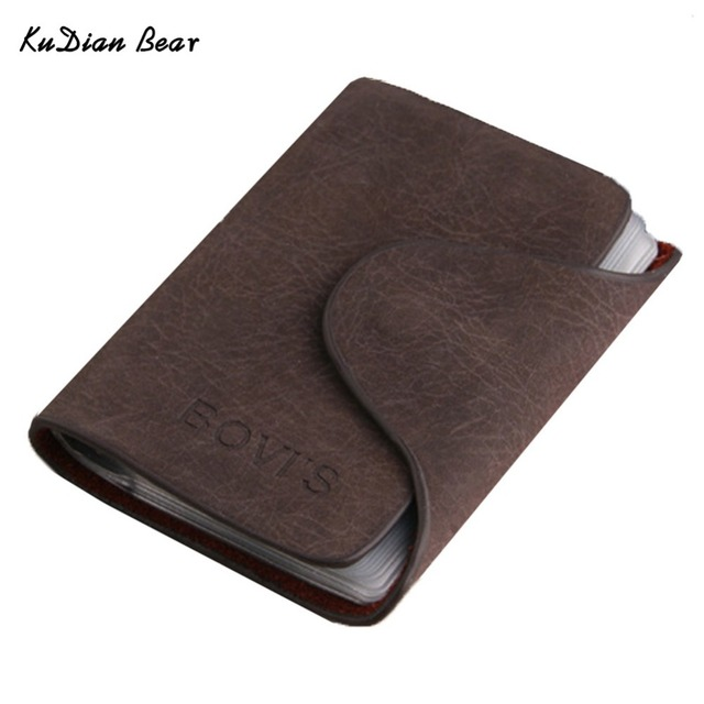 BOVIS Credit Card Holder 20 Bits Business Card Holder Rfid Men Cards Holders Porte Carte Free Shipping--BIH016 PM30