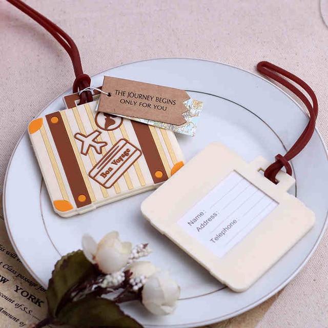 25pcs Airplane Luggage & Bag Tags Destination Wedding Favor Vintage ...