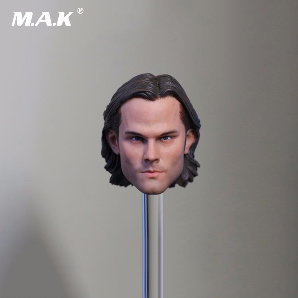 1/6 Scale Male Head Sculpt Model Toys Supernatural Sam Winchester Jared Padalecki For 12 Action Figure Body Toys 1 6 scale bvs superman 2 0 red eye head sculpt model toy for 12 male action figure body toys