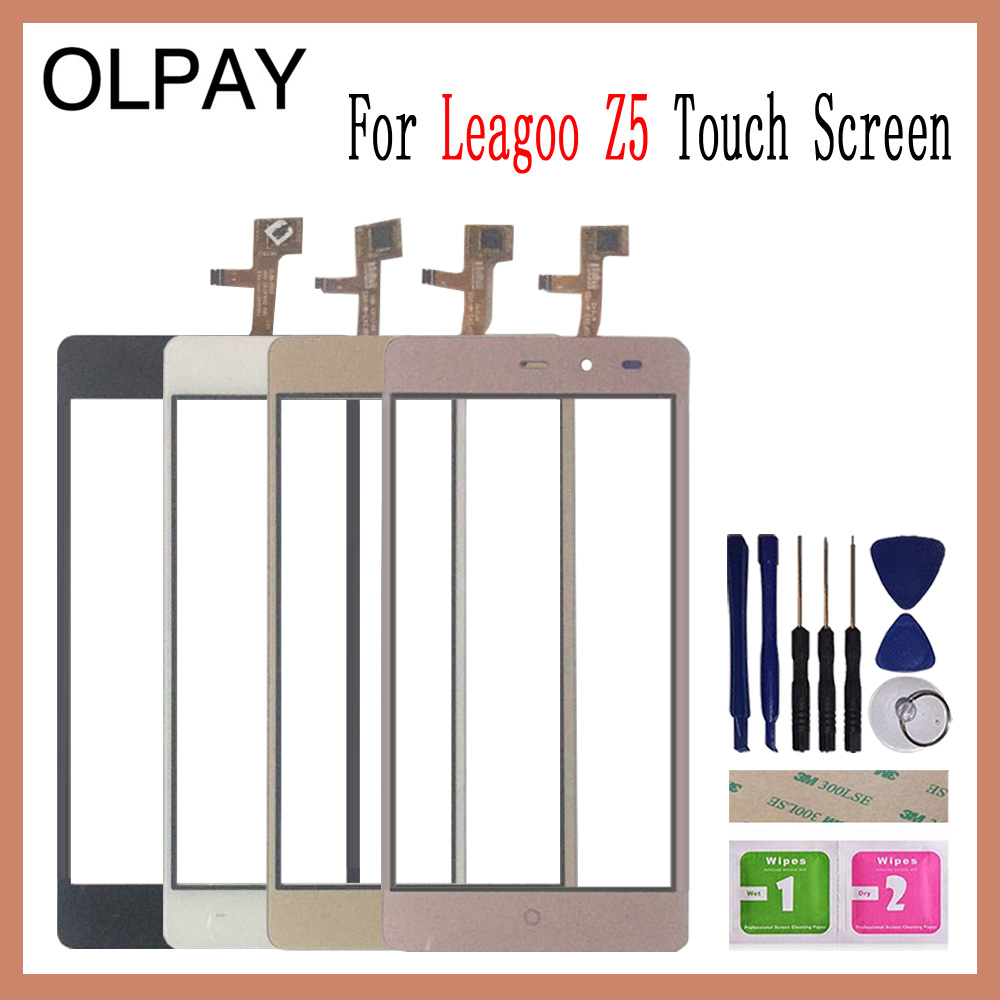 OLPAY 5.0'' For Leagoo Z5 Touch Screen Digitizer For Leagoo Z5 LTE Touch Panel Touchscreen Sensor Front Glass Free Tools+Wipes