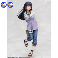A toy A dream 20cm Instock Naruto Uzumaki Naruto Hyuuga Hinata Keychain Action Figures Anime PVC brinquedos Model toys