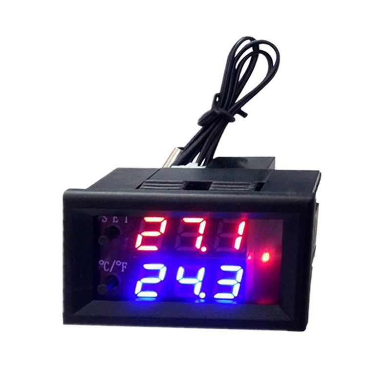 Dc 12V  Micro- Computer Electronic Thermostat Temperature Controller Switch Adjustable Digital Led Display Intelligent
