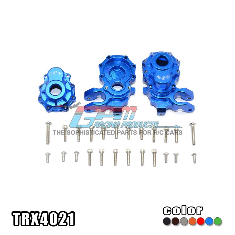 TRAXXAS TRX-4 TRX4 82056-4 Alloy front knuckle arms ago cup a complete set wear resisting non deformation - set TRX4021 traxxas trx 4 trx4 82056 4 pure copper pendulum wheels knuckle axle rotary type weight 21mm hex adapter set trx4023xx