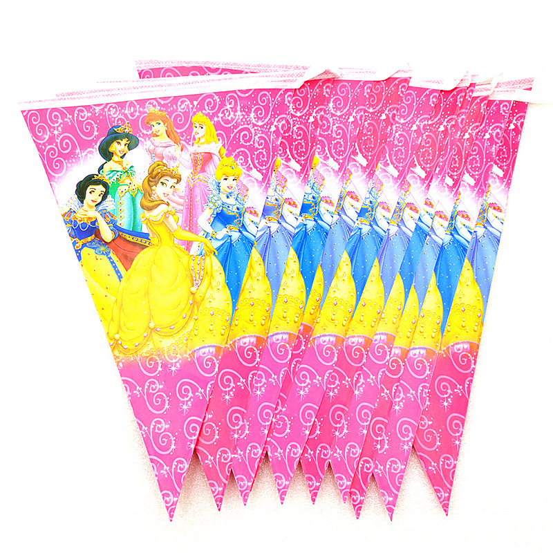 Image 5 - Disney Six Princess Belle Theme Design 83Pcs/Lot Disposable Tableware Sets Girls Birthday Party Theme Party Decoration Supply-in Disposable Party Tableware from Home & Garden