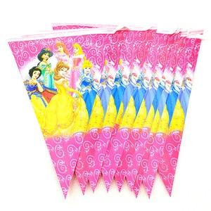 Image 5 - Disney altı prenses Belle tema tasarımı 83 adet/grup tek kullanımlık sofra setleri kızlar doğum günü partisi tema parti dekorasyon kaynağı
