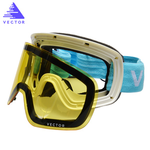 Image 5 - Only Lens For HXJ20011 Anti fog UV400 Skiing Goggles Lens Glasses Weak Light tint Weather Cloudy Brightening