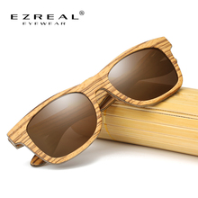 EZREAL Brand Mirror Eyewear Natural Handmade Wooden Sun Glasses Women Men Wood Sunglasses Bamboo Gifts Drop Shipping