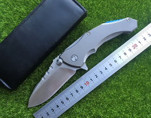 Medford2 ball bearing the fin folding knife D2 titanium processing camping hunting knife EDC tool