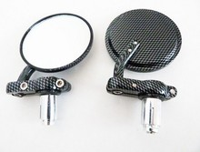 For Motorcycle Aprilia Vespa Kymco Piaagio AGUSTA KTM BMW carbon 7/8 inch Bar End Mirrors