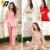 Nuevas mujeres del estilo pijamas de seda camisa de manga larga y pantalones de satén del cordón de dormir Set 4 colores