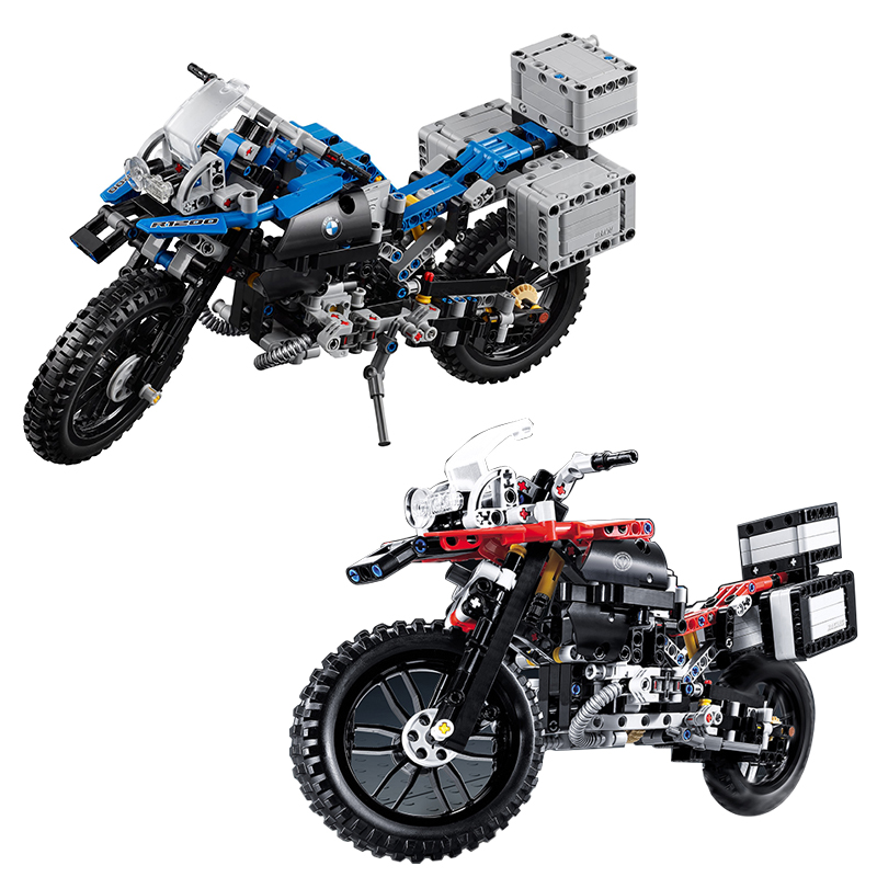 Decool 3369 Lepin 2 In 1  Motorcycle Car building bricks blocks toys for children Boy Game Gift 42063 lepin 02005 volcano exploration base building bricks toys for children game model car gift compatible with decool 60124