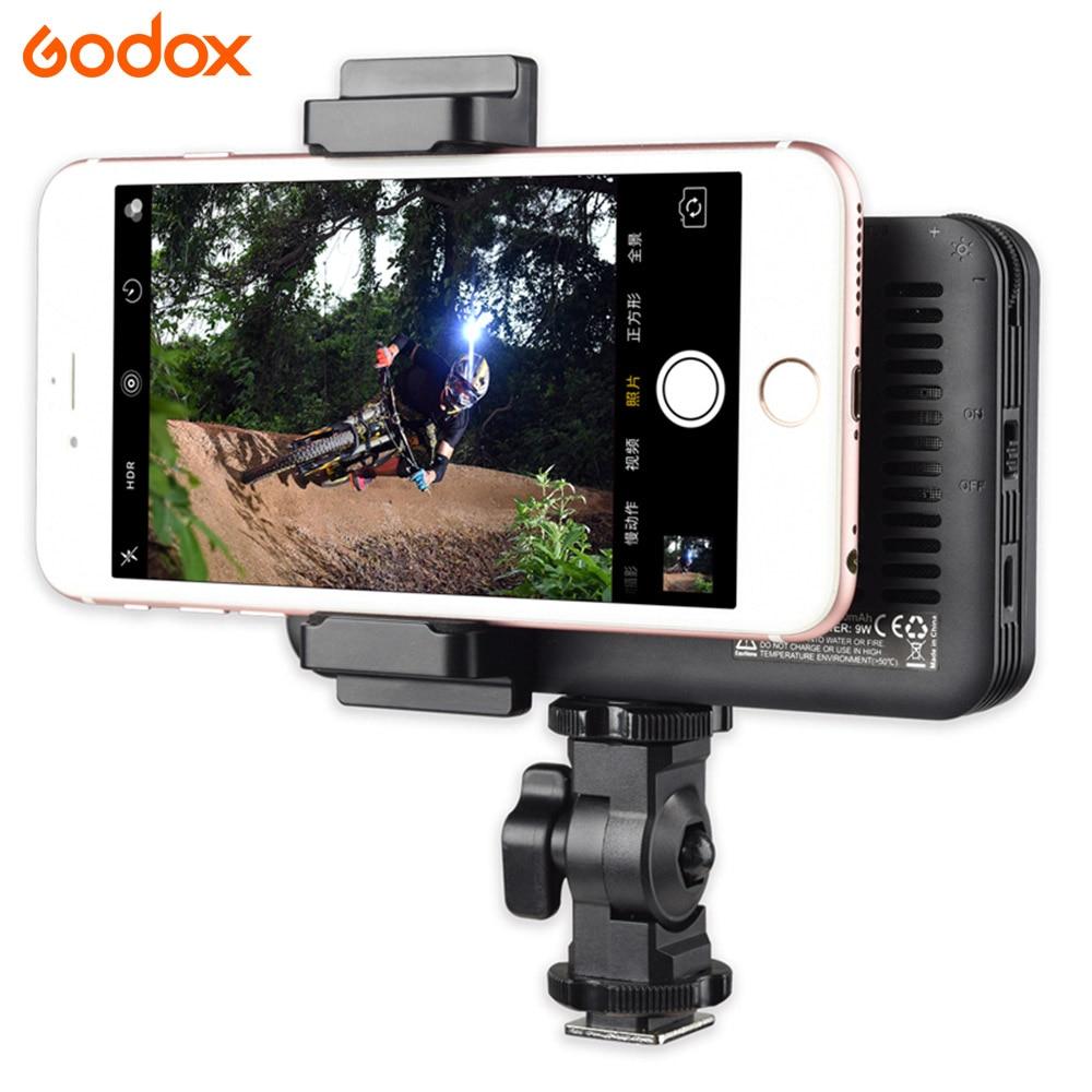 GODOX M150 lumière LED 5600 K couleur blanche LED panneau Selfie lampe pour Iphone téléphone intelligent caméra vidéo maquiagem
