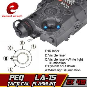 Image 5 - 要素airsof lazer LA 5C peq 15 uhp irグリーンレーザー懐中電灯softair戦術エアガンライフル銃武器狩猟