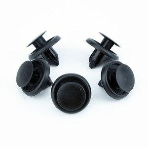 Image 1 - 50 Pcs 자동차 패스너 맞는 7mm 직경 구멍 블랙 푸시 리테이너 리벳 클립 도요타 자동차 도어 범퍼 펜더 커버 트림 클립