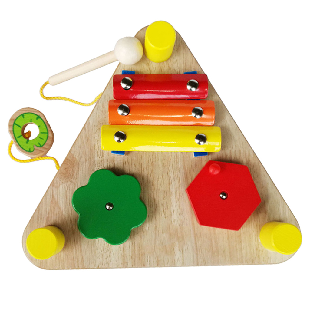 6 in 1 Musical Toys Wooden Educational Montessori Toys for ...