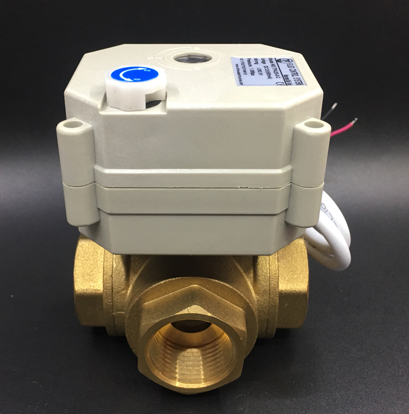TF20-BH3-B, DC12 or DC24V 2/3/5/7 Wires Brass 3/4'' (DN20) 3 Way T/L Type Horizontal Electric Valve With Manual Overiide унитаз vitra sento подвесной 4448b003 0075