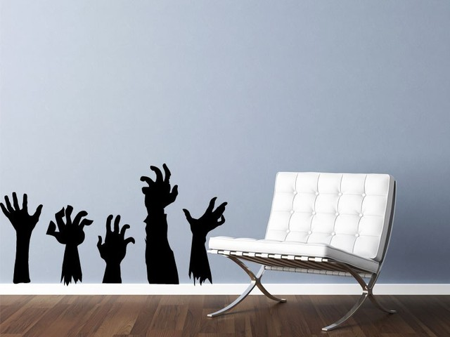 Zombie Hands Vinyl Wall Decal Perfect Quality Vinyl Decoration Removable  Black Stickers Art Decal Home Decor