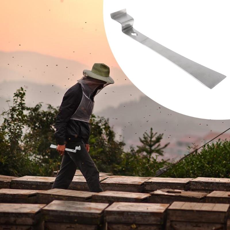Beekeeper Stainless Steel Wooden Handle Hive Scraper Beekeeping Equipment Tool