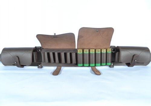 Cuir Cartouche Pochette Shotgun taille Shell Ceinture porte-Avec Gratuit Ceinture.
