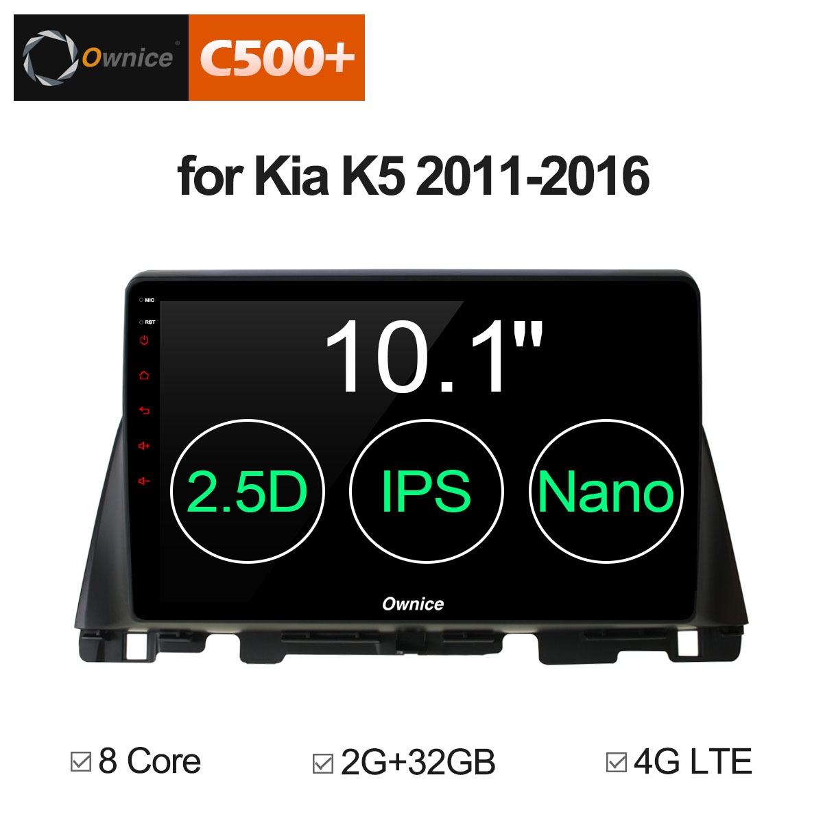 Ownice G10 C500+ 10.1 Android 8.1 8 Core 2G+32G for KIA K5 optima 2011 - 2016 Car DVD Navi GPS Radio player Vehicle 4G ownice c500 4g sim lte octa 8 core android 6 0 for kia ceed 2013 2015 car dvd player gps navi radio wifi 4g bt 2gb ram 32g rom