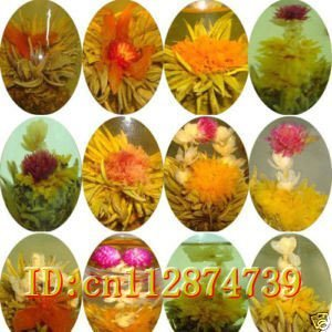 24 PCS Top Grade Artistic Blooming Flower Green Tea Ball  Beautiful Chinese Tea For Health Care