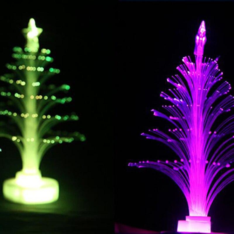 Christmas Tree 7 color Changing Colorful Fiber Optic Nightlight Christmas Tree PartyIndoorHolidayChristmas Decor (1)