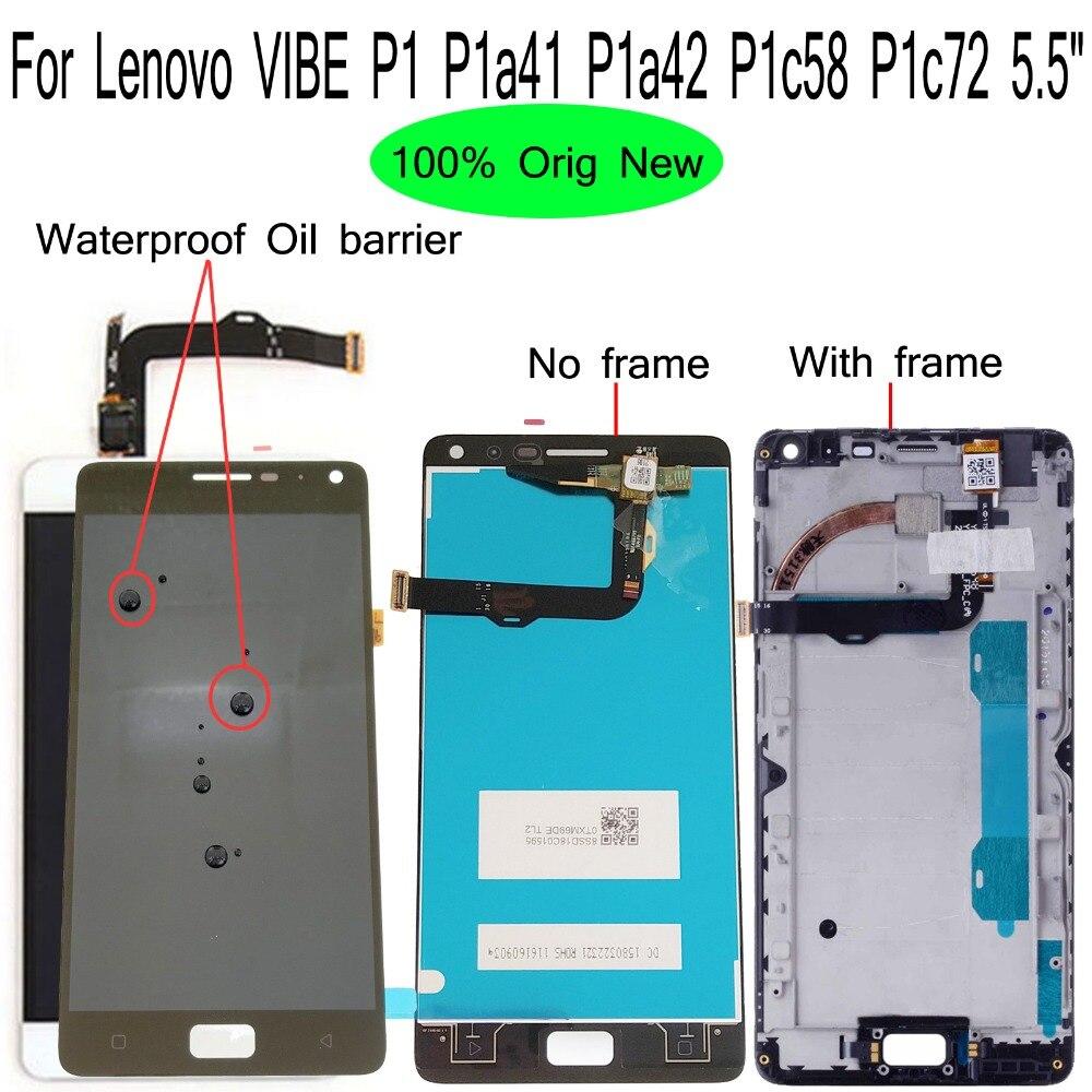 Shyueda 100% Oig NEW With Frame Lenovo VIBE P1 P1a41 P1a42 P1c58 P1c72 5.5