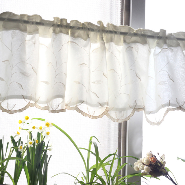 Curtains Ideas coffee curtains for kitchen : Aliexpress.com : Buy 2016 Double layer design embroidery kitchen ...