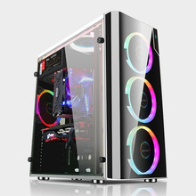 Desktop-Gamer-Case Pc-Case Computer Water-Cooling-Chassis Gaming Vertical ATX Transparent