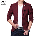 Blazer Men 2017 Men'S Fashion Brand Solid Flax Fake Pocket Male Single-Breasted Single Button Terno Masculino 3XL FIYEBVKMS