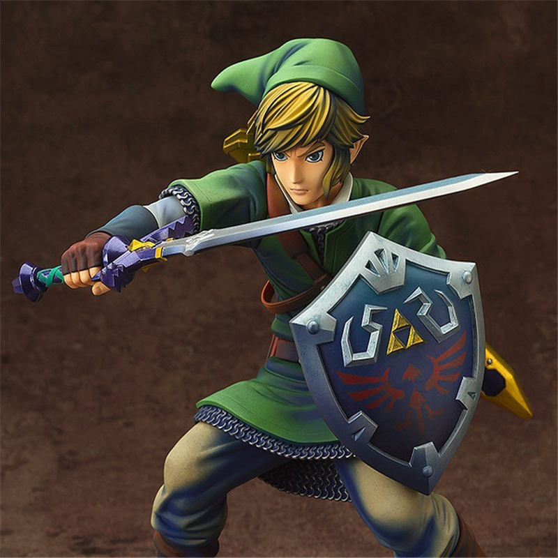 Anime The Legend of Zelda Link PVC Action Figures Collectible Model Toys 20cm KT3654 anime the legend of zelda 2 a link between worlds link figma 284 pvc action figure collectible model kids toys doll 10 5cm