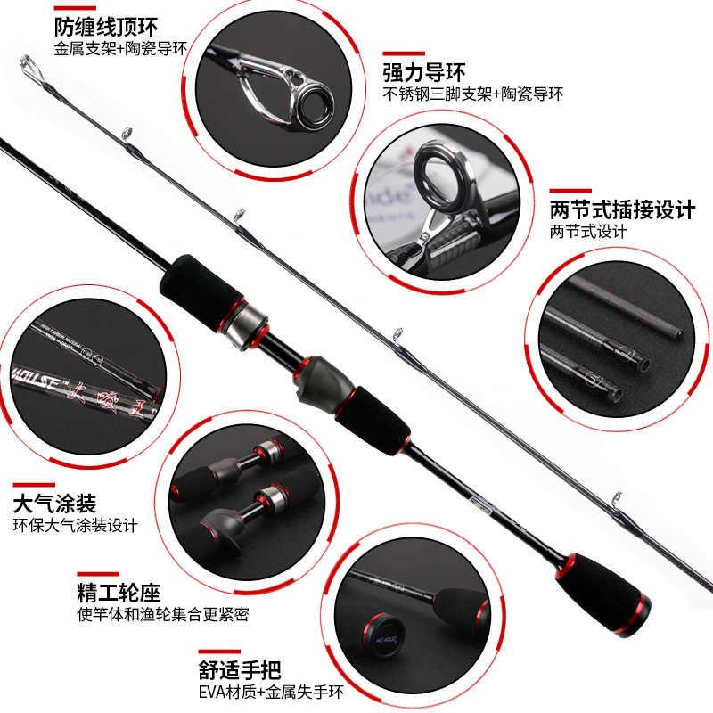 NEW マッドマウス 50T 東レ高炭素 fuji リールシート 1.9 メートル UL/L アクションダブルヒントトラウト棒 2 ヒント回転と鋳造ロッド
