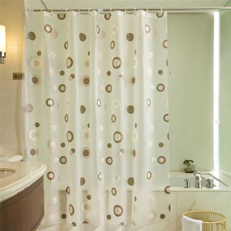 Transparent White Clear Bathroom Curtain Plastic PEVA 3d Waterproof Shower Luxury Bath With Hooks