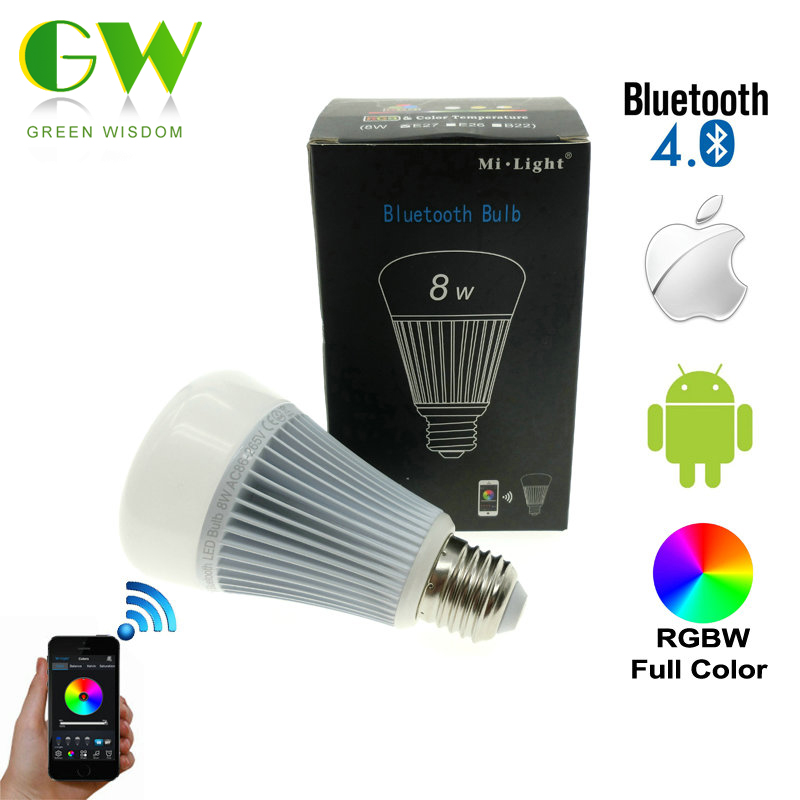 Mi.Light Bluetooth Bulb 4.0 8W E27 AC85-265V Full Color Smart LED Light with IOS Android APP Control. зимняя шина nokian hakkapeliitta 8 suv 265 50 r20 111t